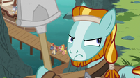 Rockhoof looking back at the volcano S7E16