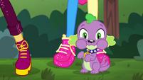 Spike happily eating sweet food CYOE11c