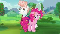 Svengallop circles around Pinkie Pie S5E24