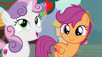 "Sweetie Belle ""even though things looked bleak"" S6E19"