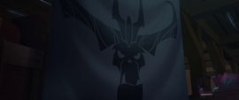Gray tarp with the Storm King's face MLPTM