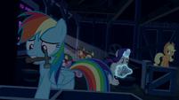 Rainbow, AJ, and Rarity secure the barn S6E15