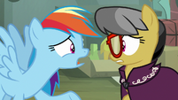 """Rainbow Dash """"giving up being Daring Do"""" S7E18"""