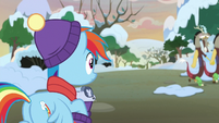 Rainbow Dash watches Discord leave MLPBGE
