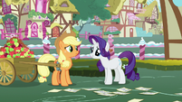 Rarity asks Applejack to think about it S7E9