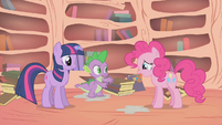 """Spike """"say it, don't spray it, Pinkie"""" S01E09"""