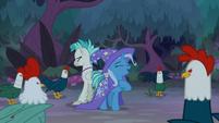 "Trixie ""fears no cluck!"" S9E11"