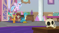 Young Six entering Twilight's office S8E26