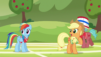 """Applejack """"where did Pinkie Pie learn to buck like that?"""" S6E18"""