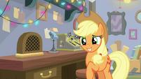 Applejack looking bashful BGES3