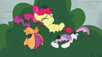 Cutie Mark Crusaders in the bushes S8E12