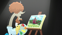 Discord puts his brush on red paint S5E22