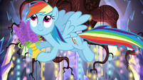Rainbow helps decorate the castle S5E19