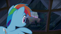 Rainbow peeks into another pony's window S6E15