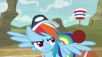 Rainbow rolling a ball across her wings S9E6