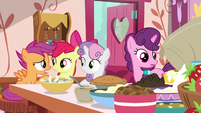 "Scootaloo ""add sugar to that bowl six times"" S9E23"