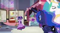 Twilight's joke fails to land with princesses S9E17
