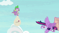 Twilight Sparkle diving to the ground S9E5