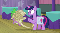 Twilight giving her charts to Spike S9E16