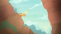Applejack jumps over the ravine again S8E23