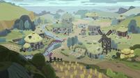 Distance view of Stygian's village S7E26