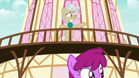 Mayor Mare pointing off-screen S9E25