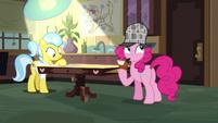 Pinkie ponders on Dr. Fauna's testimony S7E23