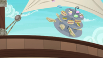 Rarity's snacks go overboard in Pinkie's story S6E22