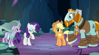 Rarity about to answer Rockhoof S7E26