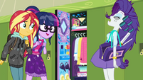 Sunset and Twilight approaching Rarity SS6