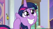 Twilight Sparkle reminiscing fondly S9E4