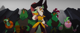 Captain Celaeno and the pirates ready to fight MLPTM