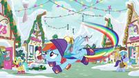 Rainbow Dash frantically flying MLPBGE
