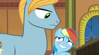 Rainbow trying to get past Big Stallion S8E5