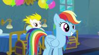 Rainbow with Applejack's mane style S6E7