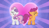 Sweetie and Scootaloo turn away from each other S8E6