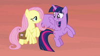 Twilight and Fluttershy excited to reach the bayou S7E20