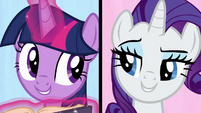 """Twilight and Rarity sing """"we've got dents"""" S7E14"""