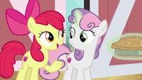 "Apple Bloom ""check the least likely place"" S9E23"