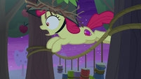 Apple Bloom leaps over tin cans S9E10