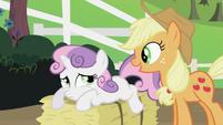 Applejack talking to Sweetie Belle S2E05