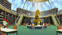 Canterlot High School library interior view CYOE2