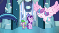 Flurry Heart chases after Shining Armor S6E2