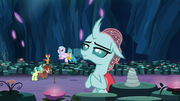 Ocellus in a meditation pose S9E3.png
