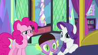 Pinkie, Spike, and Rarity happy Twilight is better MLPS2