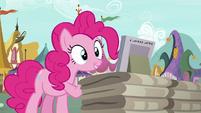 Pinkie Pie notices magazines on display S7E19