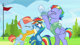 Rainbow Dash's parents start smothering her S7E7