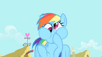 Rainbow Dash doing a funny face S1E22
