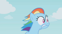 Rainbow Dash looking for cover S01E05