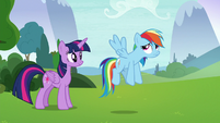 Rainbow Dash looking unhopeful S8E9
